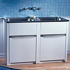 Clark Eureka 45L Double Tub and Cabinet