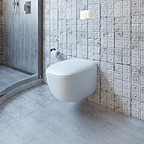 Caroma Contura Invisi II Wall Hung Toilet Suite